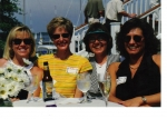 Beth Tittle, Micki Carter, Syd Cornett, Laurie Kitchin - sometime in the 90's..  BFF's