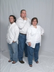 This is out Charlies Angles pose.  Billy, Teresa, and Danny Holber