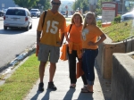 We're going to see the Vols!  Gordon Bolt, Priscilla Bolt Travis, Mackenzie Travis (niece)