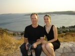 Another David Harrison and Oana in Greece with a beautiful backdrop.