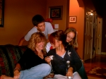 Cheryl Robie with nephew, Michael and niece's, Jenna and Ariana  Nov 06.