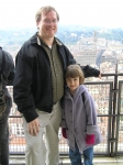 Thomas Nephew and daughter Maddie (Madeleine, b. 1998) in Florence earlier this year.